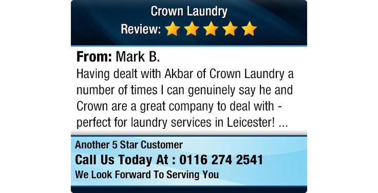 Having dealt with Akbar of Crown Laundry a number of times I can genuinely say he and...