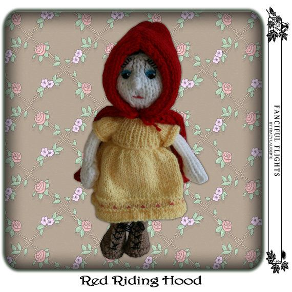 Knitting Pattern For Little Red Riding Hood Doll : 17 best images about knitted Red riding hood dolls /wolf ...