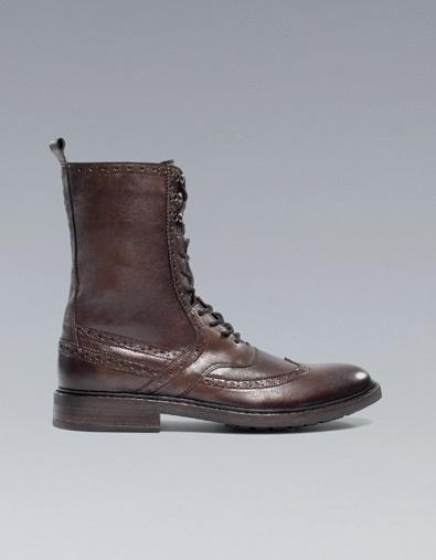 COMBAT BOOT - Shoes - Man - ZARA