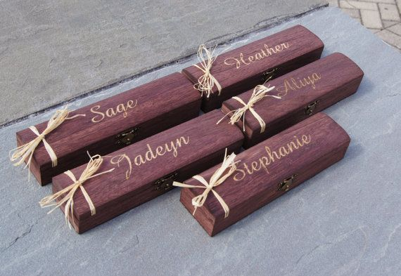 Engraved Jewelry Box Set of 5  Bridesmaid by RiversideBridal77