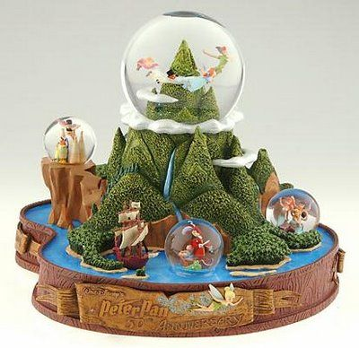 Disney Snowglobes Collectors Guide: Neverland Snowglobe. I remember this one! I want every Peter Pan snowglobe I see but this one is amazing.