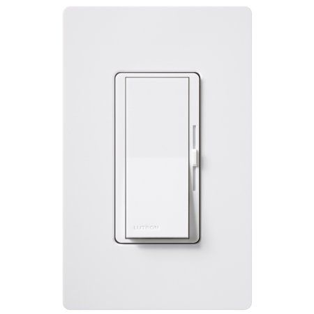 Lutron Dvwcl-153PH-WH White Single Pole Or 3 Way CFL/LED Dimmer With Wall Plate, Multicolor