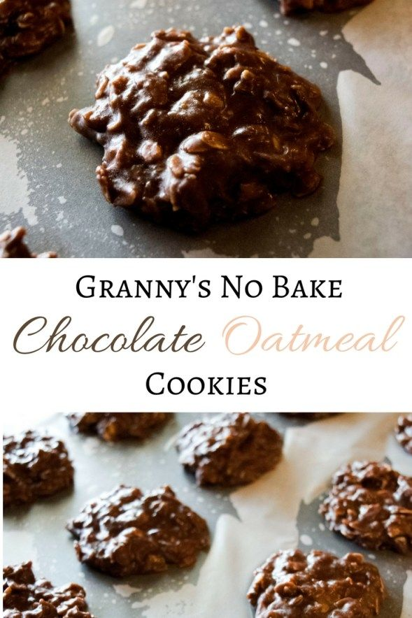 Granny's No Bake Chocolate Oatmeal Cookies - Simple and Sweet at Grey Fox Trails