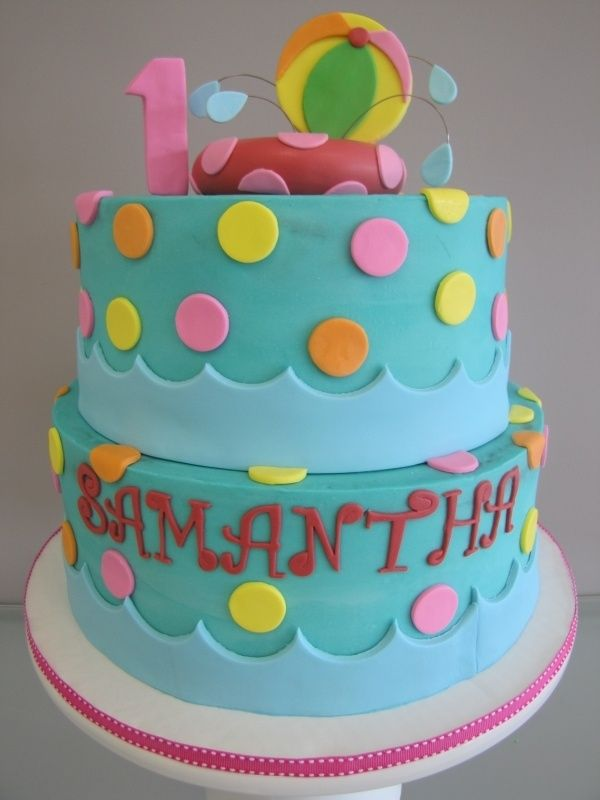 Pool Party Cake Ideas