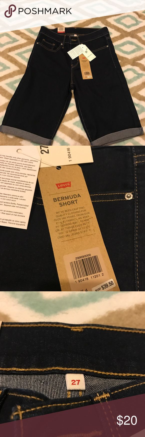 Levi's Bermuda Shorts Levi's Bermuda Shorts. Dark wash.  Waist 27 (size 4). Brand new and never worn. Tags still on. Levi's Shorts Jean Shorts