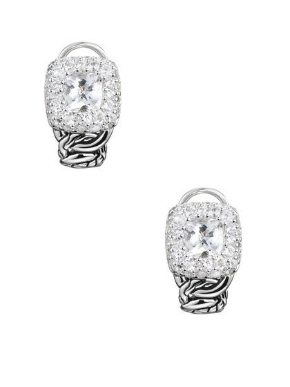 John Hardy Classic Chain White Topaz Shrimp Earrings bzbMf