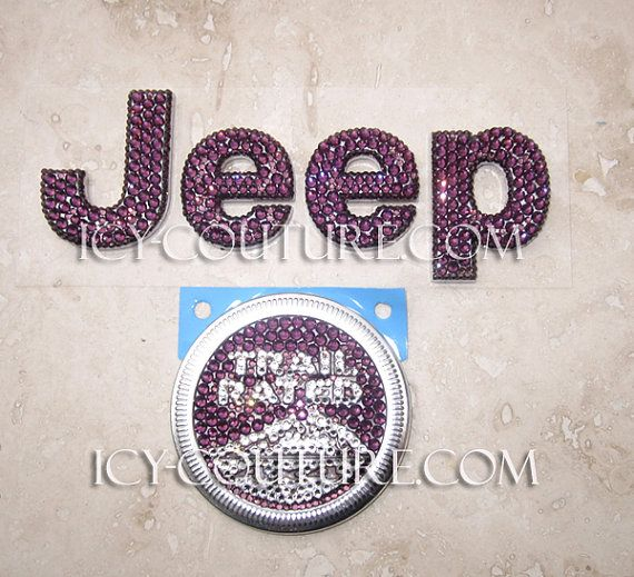 Bling Your Car Fabulous! :) Pink, Black, Gold, any color JEEP emblems. Select Your Set and Crystal Colors! Only ICY Coutures Car Bling is Lifetime