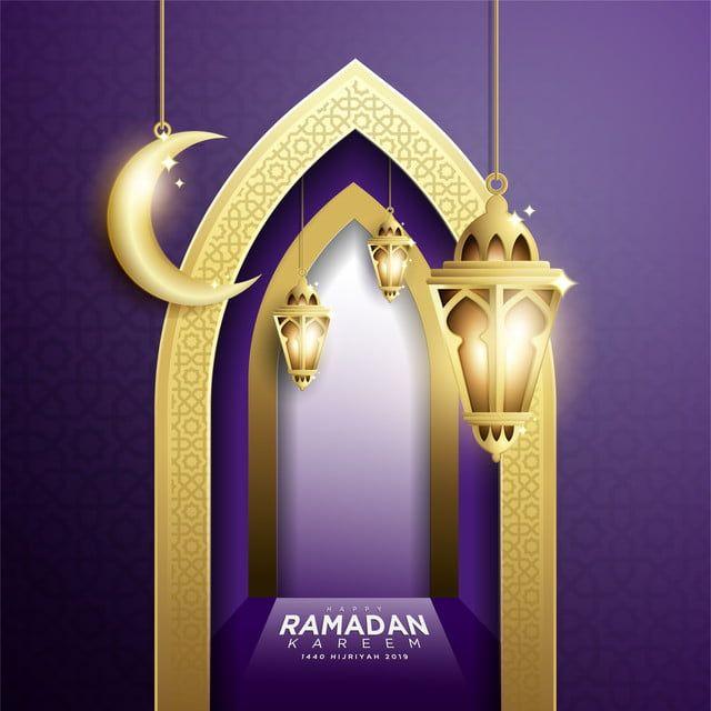 تصميم أنيق من رمضان كريم مع فانوس معلق م خلفية تحية اسلامية Png والمتجهات للتحميل مجانا Ramadan Kareem Instagram Template Design Design