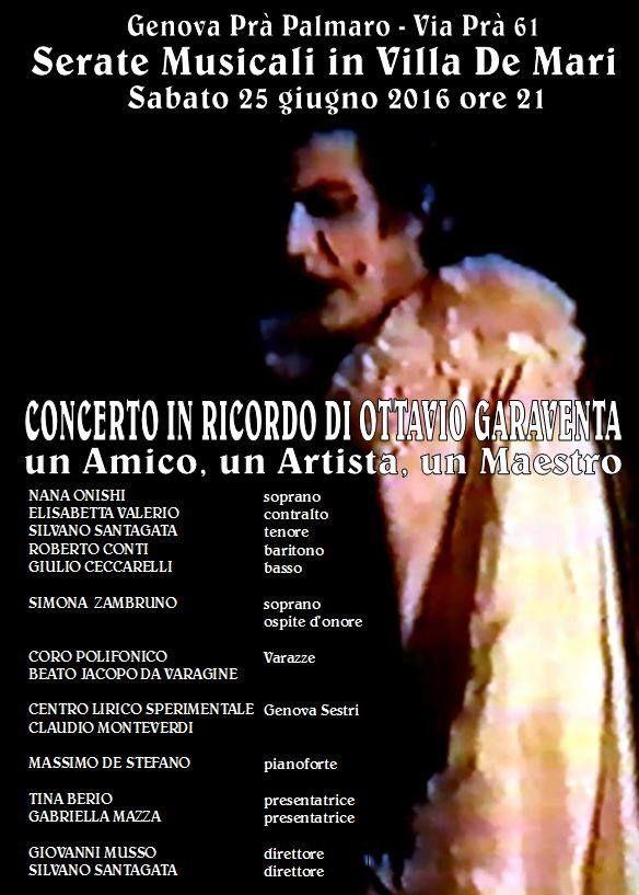 Concerto in ricordo di Ottavio Garaventa un Amico, un Artista, un Maestro