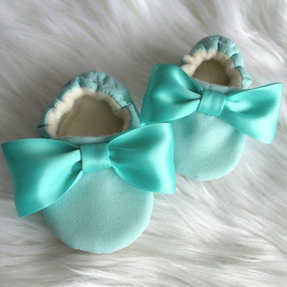 Teal Baby Shoe Aqua Baby Shoe Girl Soft Sole Baby Shoes