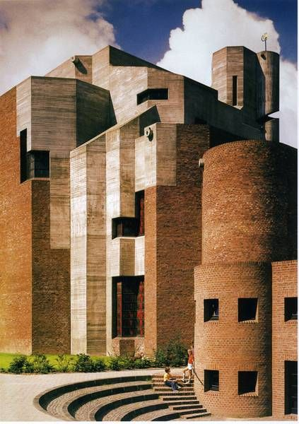 "Church ""Christi Auferstehung"" (1964-70) in Cologne, Germany, by Gottfried Böhm"