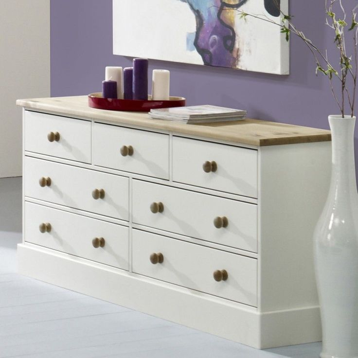 BALMORAL Large White Chest of drawers, 3+4 Wide Chest of drawers, METAL RUNNERS in Home, Furniture & DIY, Furniture, Chests of Drawers   eBay