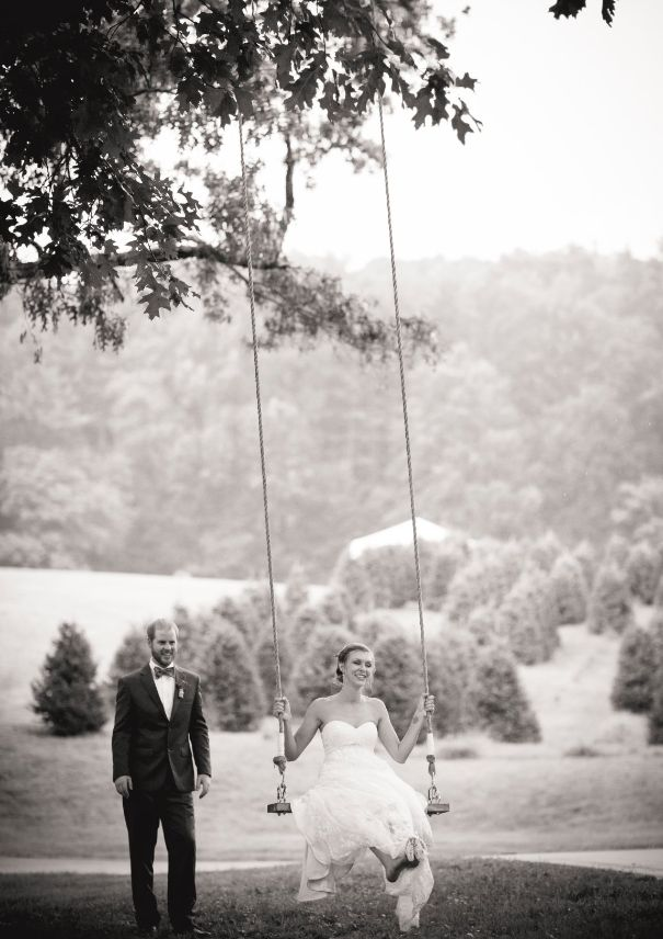 Whimsey On Their Wedding Day At Sawyer Family Farmstead Cashiers NC
