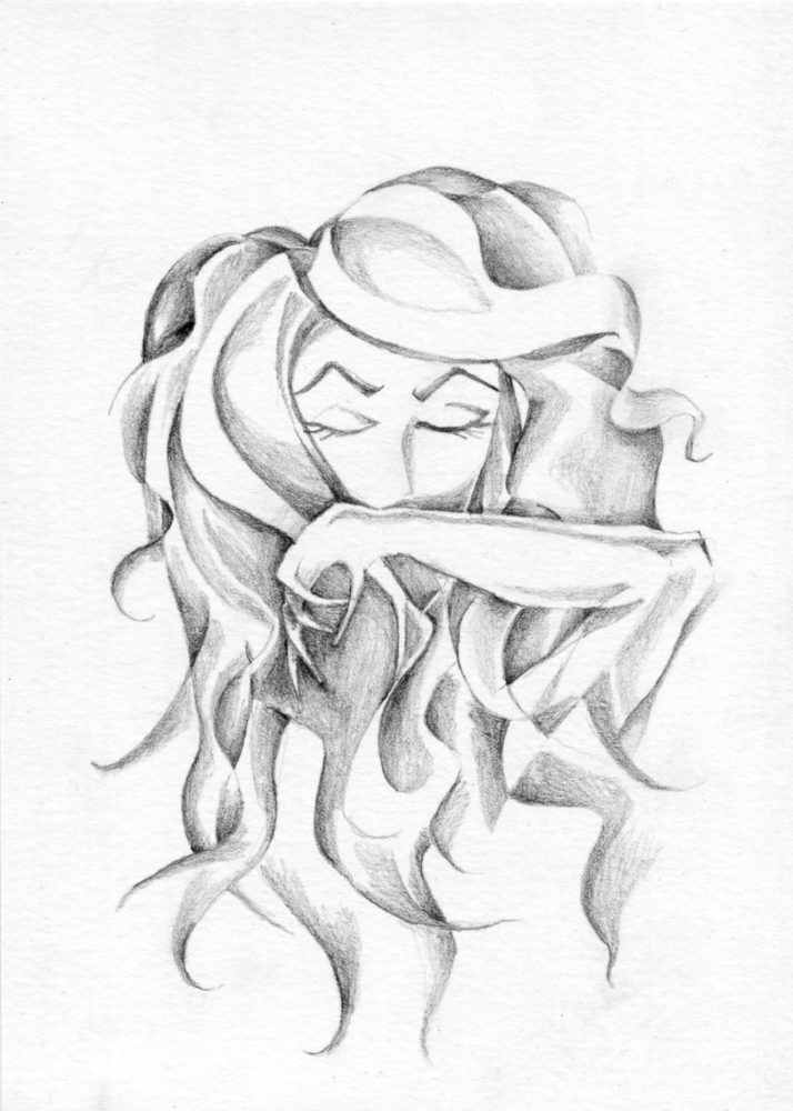 Proverbs 30:20 graphite art piece: She Wipes Her Mouth
