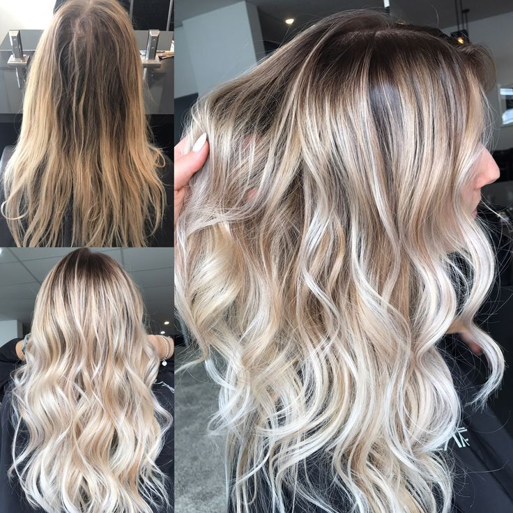 Instagram @hairbykaitlinjade Blonde balayage, long hair, cool girl hair ✌️ Lived in hair colour Blonde bronde brunette golden tones Balayage face framing blonde Textured curls