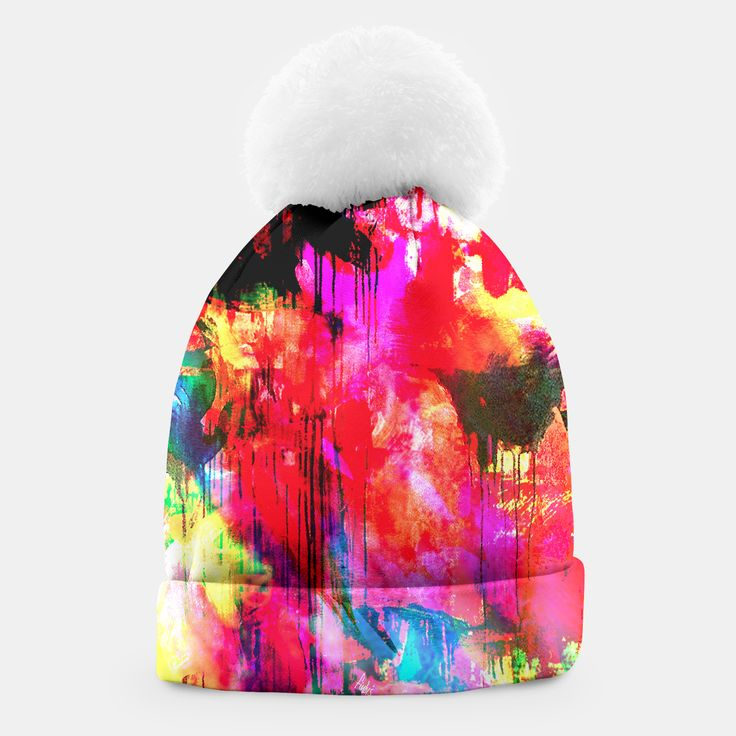 BLITZ hat by Fimbis    _____    ___________________________________   #headwear #wrapup #winter #xmas #graffiti #pattern #winteriscoming ___________________________________ A simple yet stylish beanie with a white pompon designed by you and for you. This winter you are going to look exceptional!Manufactured manually in Europe with best materials available, and printed with unique image of your choice! Live Heroes guarantees the highest quality of all products purchased.