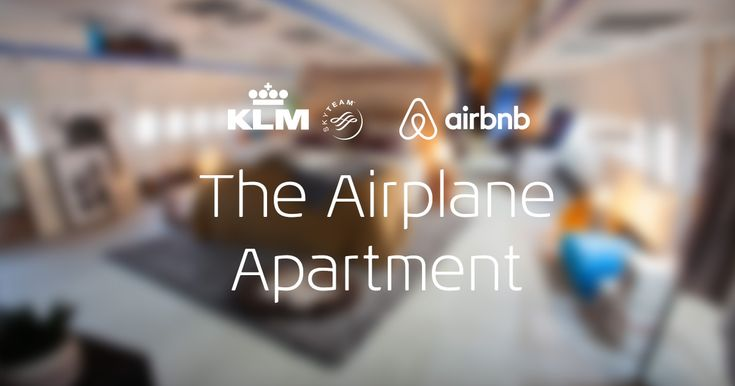 Airbnb and KLM join forces to surprise travelers with a night in an airplane apartment: www.klm.com/airbnb