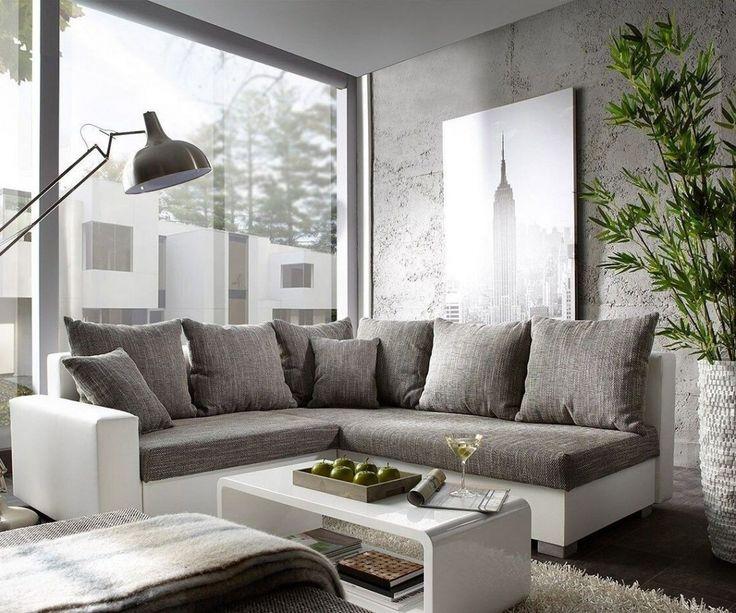 Die besten 25+ Sofa weiß grau Ideen auf Pinterest Couch weiß - wohnzimmer grau silber