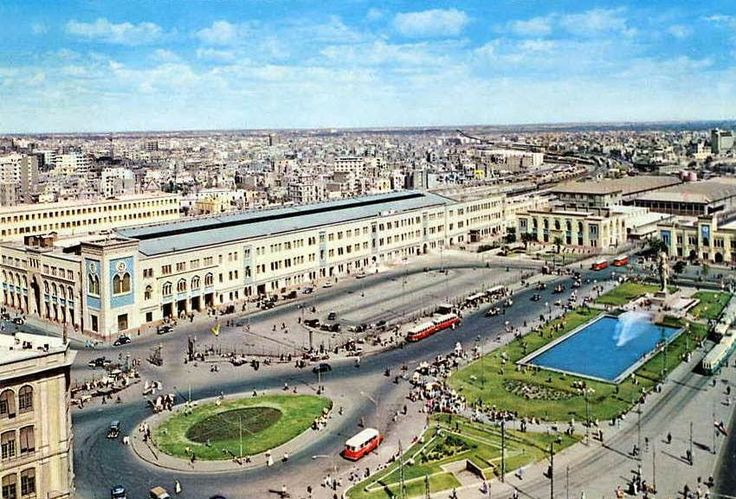 Ramses Square Cairo Railway Station 1975 #Egypt