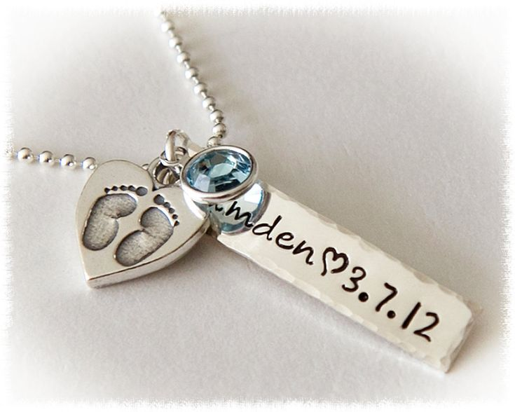New Mom Personalized Pendant  Baby Jewelry  Mom by SuedeSentiment, $52.00
