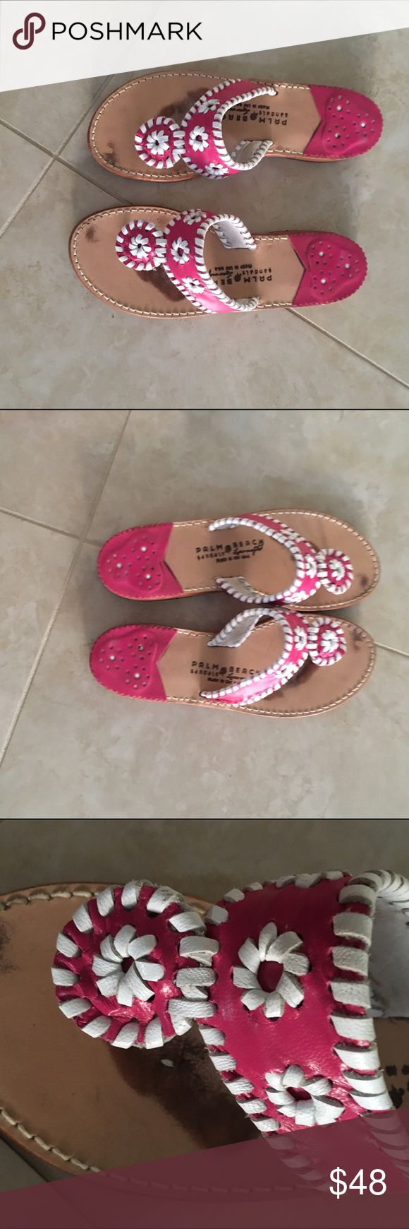EUC Palm Beach Sandals 7.5 EUC Palm Beach Sandals 7.5 Jack Rogers Shoes Sandals