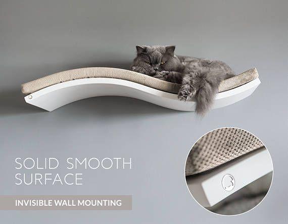 Plataforma gato flotante estantes de gato percas de gato