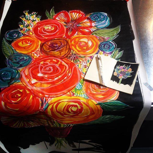 Little and large #irishillustrators #bouquet #bouquetaday #large #little #fridaycolour #