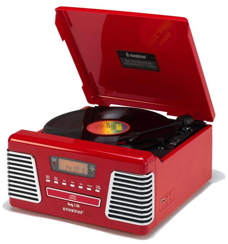 Red Roxy Retro Record Player  #red #recordplayer