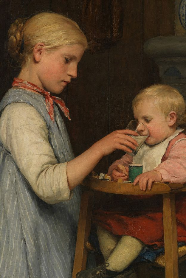 Albert anker schaffhausen art family life for Paintings of toddlers