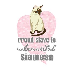 Proud slave to a beautiful Siamese. Cat tee.   Fabrily