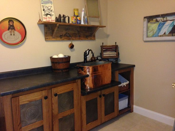Laundry Room Redeux  Vintage Look With Modern Convenience