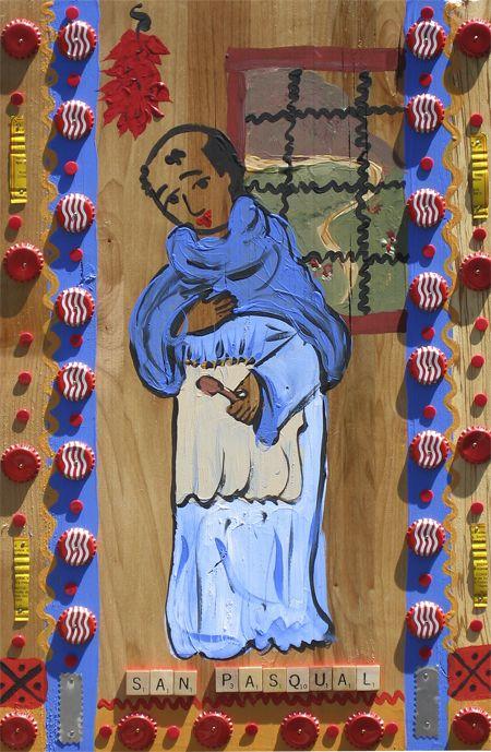 San Pasqual, Patron Saint of the Kitchen; Roadside Tin in Chimayo, New Mexico