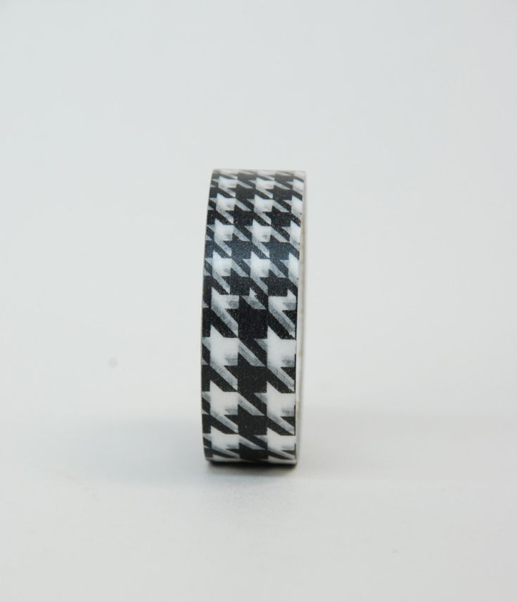 MT Washi Tape - Single Roll Check Black or Red by ZigZakka on Etsy