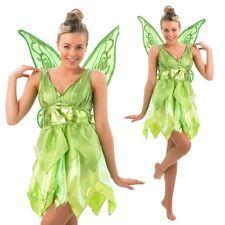 Disney Damen Kostüm Fee Tinkerbell als Elfe Karneval Fasching