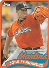 2014 Topps 1989 Topps Mini Die Cut #TM-80 Jose Fernandez - Miami Marlins