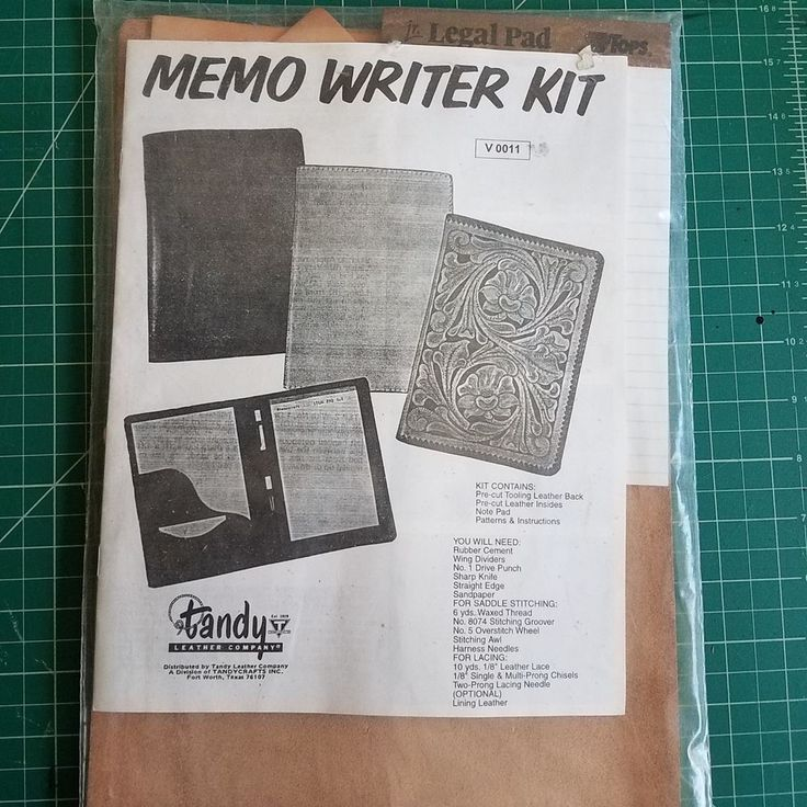 Vintage Tandy leather Kit- Memo writer kit #TandyLeatherFactory