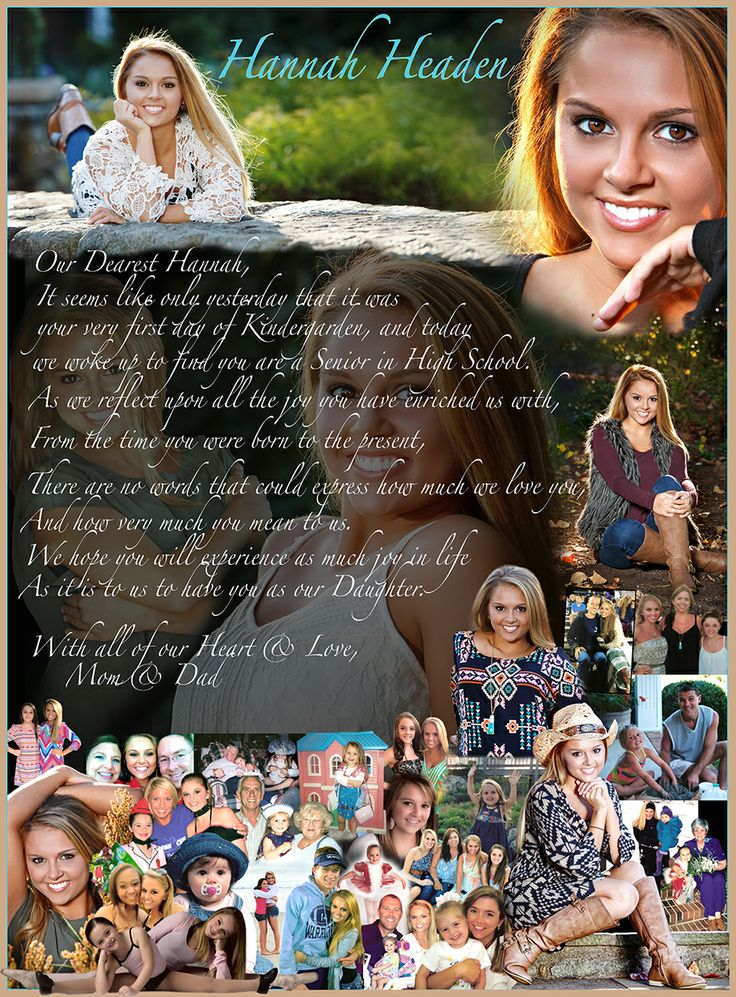 Best Senior Page Ideas Images On Pinterest Yearbook Design