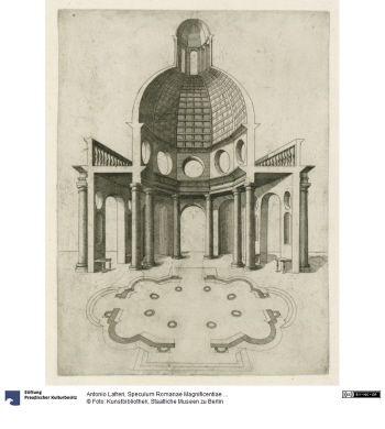 Speculum Romanae Magnificentiae ...     Konvolut      Antonio Lafreri (1512 - 1577, Rom), Stecher & Drucker & Verleger     Nikolaus van Helst, Stecher     Claude Duchet (unbekannt - 1585.12, Rom), Stecher     ab 1544      Material: Papier, Technik: Kupferstich