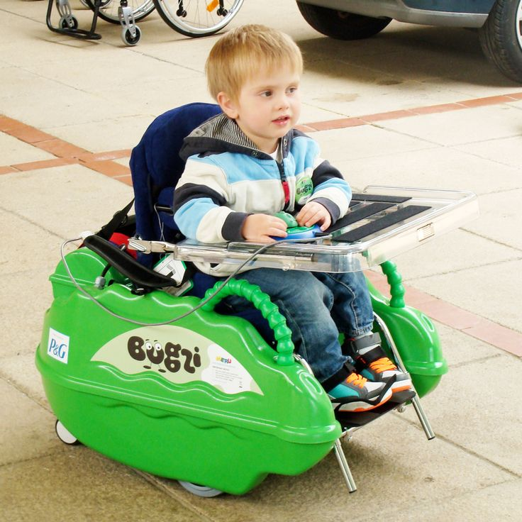 Mobility for Toddlers The award-winning MERU Bugzi is a powered indoor chair for children aged one to five. Bugzi offers a unique opportunity for pre-school children with disabilities to experience independent mobility, often for the first time in their lives.