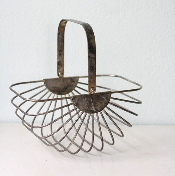 Imagine the things you could stuff into this....vintage egg basket