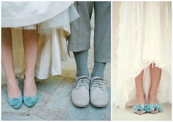 Kolorowe buty na ślub