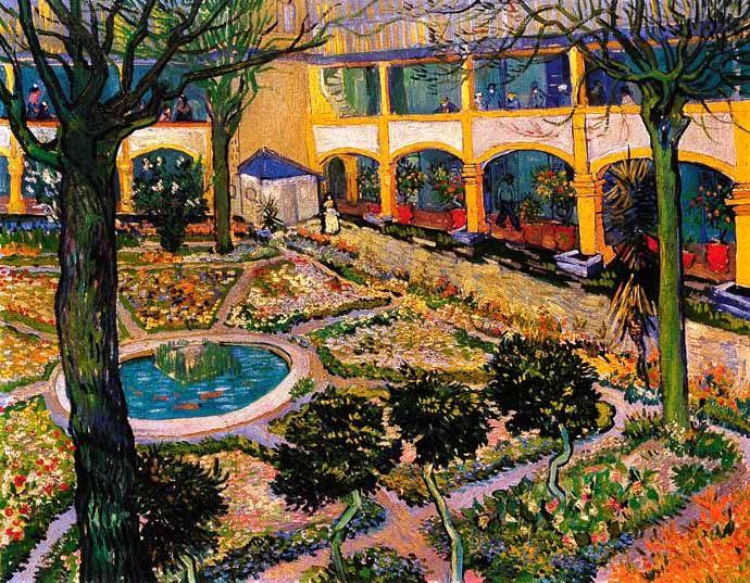 Vincent Van Gogh - Post Impressionism - Arles - L'Hôpital - The Hospital - 1889