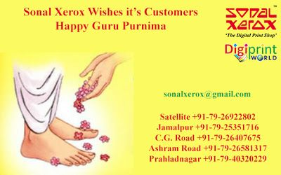 Sonal Xerox Digital Print Services: Happy Guru Purnima from Sonal Xerox