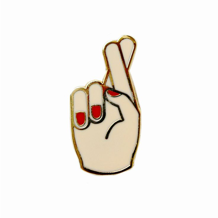 Georgia Perry | Fingers crossed pin