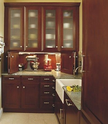 Countertop Appliance Garage (with Plugs)   A Must! Great Stuff On This Blog  · Kitchen Appliance StorageAppliance CabinetAppliance ...