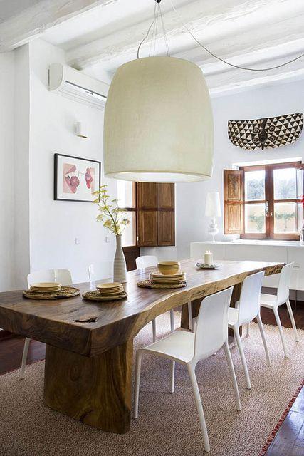 Más de 25 excelentes ideas populares sobre mesa de tronco de Árbol ...