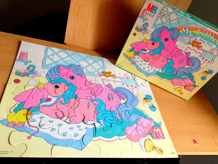 Vintage My Little Pony 1980's Puzzle Baby Pony 24 Pieces Complete With Box by suburbantreasure on Etsy