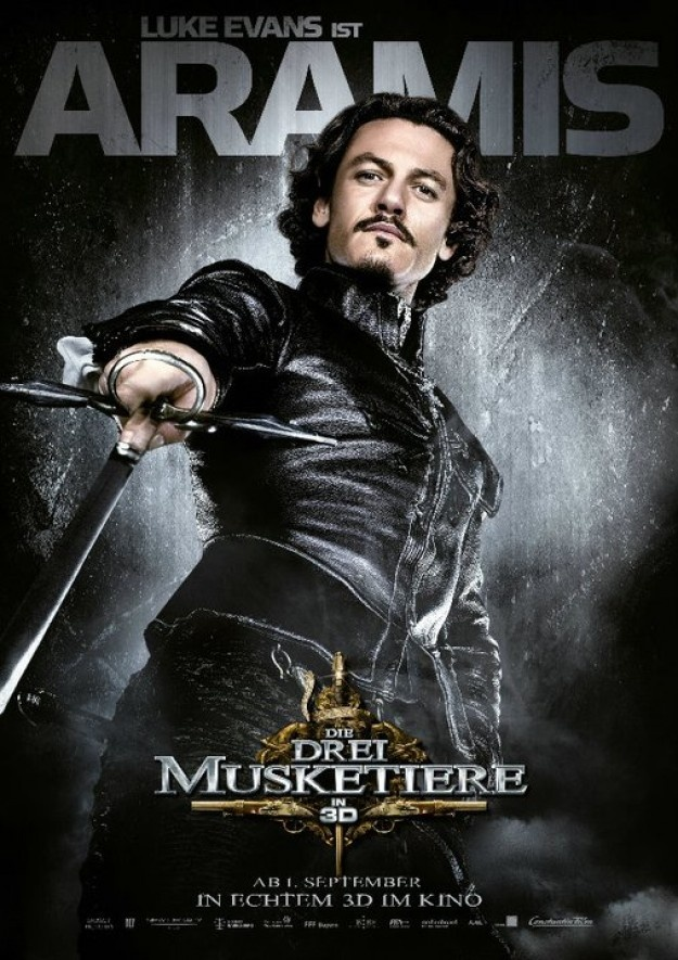 Luke Evans as Aramis (The Three Musketeers)