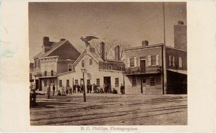 "Photography:CDVs, Horizontal Carte-De-Visite View of ""Union Volunteer RefreshmentSaloon"" Philadelphia.... Image #1 http://historical.ha.com/c/item.zx?saleNo=6083&lotNo=52593"