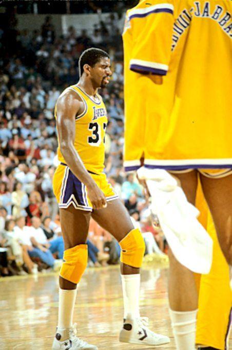 Magic Johnson in the 1985 NBA Finals vs the Boston Celtics